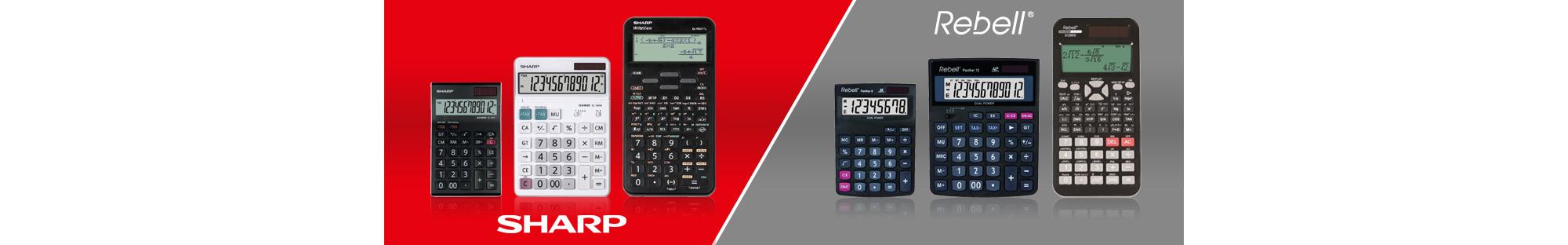 Kalkulačky SHARP a REBELL