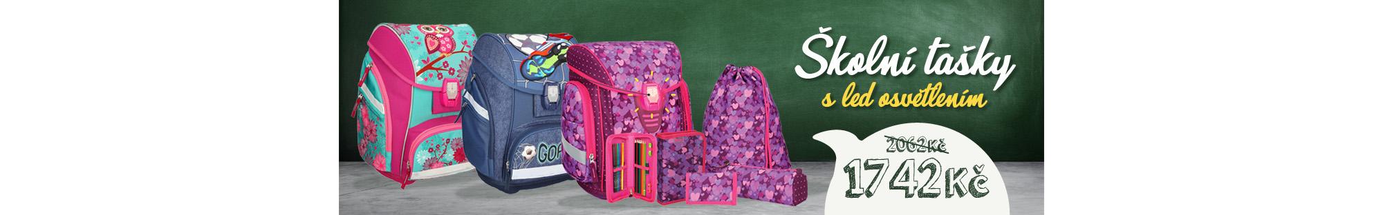 AKCE! Školní tašky s LED osvětlením
