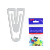 Dopisní spony plastové 621, tvar V, 21 mm (10 ks)