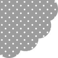 Obrousky PAW R 32 cm Dots Grey