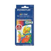 """Barevné tužky, šestihranné, STAEDTLER """"Noris Club"""", 12 různých barev"""