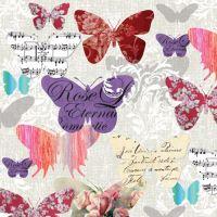 Ubrousky PAW L 33x33cm Romantic Butterflies