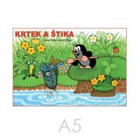 Omalovánka A5 Akim - Krtek a štika