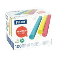 Křída MILAN kulatá barevná bezprašná 100 ks