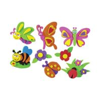 Dekorační pěna motýli mix, 8 ks