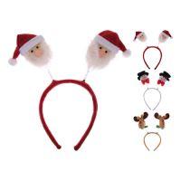 Čelenka - vianočná s figúrkami 12 cm, mix/1 ks