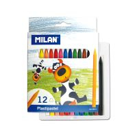 Plastické pastelky MILAN 12 ks