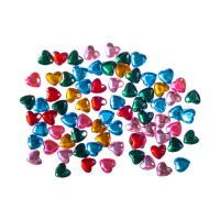 Dekorační kamínky srdíčka mix barev, sada 200 ks