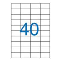 Etikety VICTORIA A4/100 ks, 52,5x29,7 - 40 etikiet, biele
