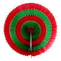 Vánoční ozdoba kruh zeleno-červený 40 cm