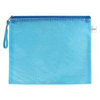 Síťovaná obálka se zipem PVC / A4, modrá