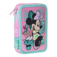 Penál 2-patrový/plněný Minnie Mouse Tropicool