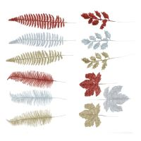 Dekorace - Listy mix barev 20 cm, sada 3ks