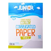 Dekorační papír A4 bílý vlnkový 160 g, sada 10 ks