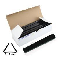 Násuvné lišty Relido 3-6 mm černé