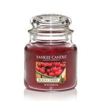 Svíčka Yankee Candle - Black Cherry, střední