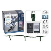 Vánoční mikrožiarovky 480 LED 8 mm - studená bílá, na bluetooth, 53 m