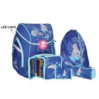 Školní aktovka - 5-dílný set, PRO LIGHT Mermaid, LED
