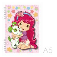 Zápisník A5 s efektem 3D - Strawberry