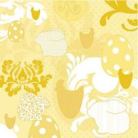 Ubrousky PAW L 33x33cm Easter Patchwork Yellow