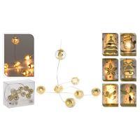 Svítící řetěz 20 LED - teplá bílá, 220 cm