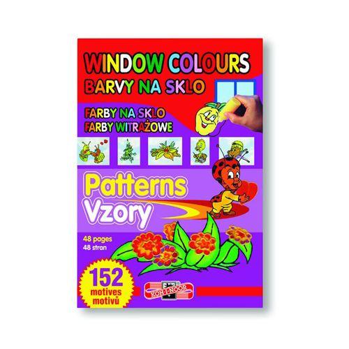 Barva na sklo - šablony