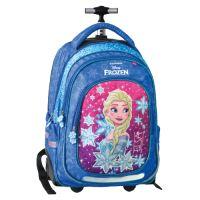 Školní batoh na kolečkách Trolley Frozen, Blue kingdom