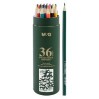 Pastelky šestihranné M&G v pouzdře, sada 36 ks