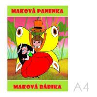 Omalovánka A4 Akim - Maková panenka