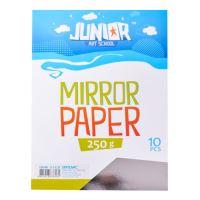 Dekorační papír A4 stříbrný lesklý 250 g, sada 10 ks