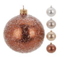 Vánoční koule - skleněná 100 mm / glitter, mix / 1ks