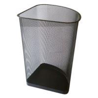 Koš drátěný na odpadky rohový, černý, 19 l