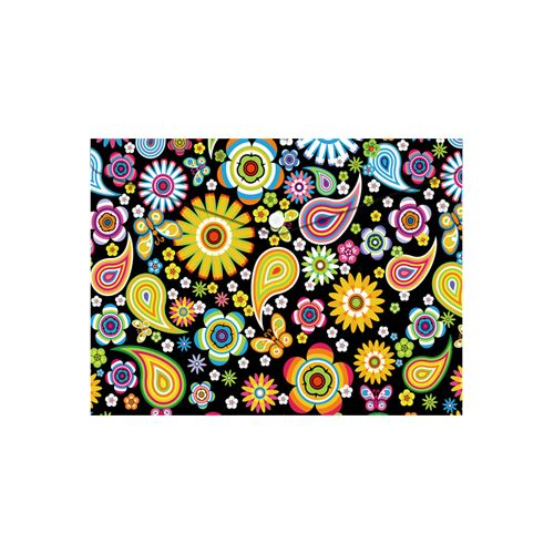 Obal PP s patentkou A5, Colorful Flowers