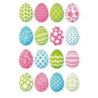 Velikonoční nálepka barevná vajíčka