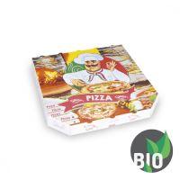 Krabice na pizzu z vlnité lepenky 30 x 30 x 3 cm, 100 ks