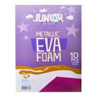 Dekorační pěna A4 EVA růžová metalická tloušťka 2,0 mm, sada 10 ks