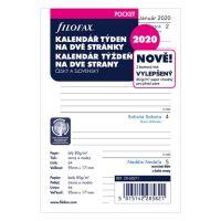Náplň do diáře Filofax 2020 Kalendář, kapesní/týdenní
