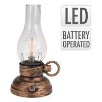 Lucerna s LED žárovkou - teplá bílá 20 cm, 1ks