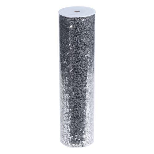 Látka dekorační/organza 250x25 cm - stříbrná, 1ks
