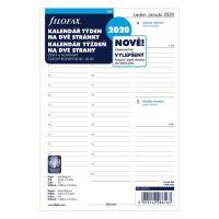 Náplň do diáře Filofax 2020 Kalendář A5, týdenní
