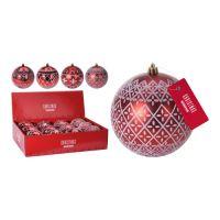 Vánoční koule - PP červená 100 mm, mix / 1ks