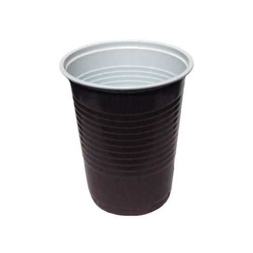 Pohár kávový hnědo-bílý 0,18 l, 100 ks