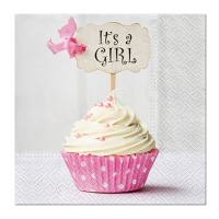 Ubrousky PAW L 33x33 cm Pink Cupcake