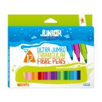 Fixy JUNIOR Jumbo barevné, sada 12 ks