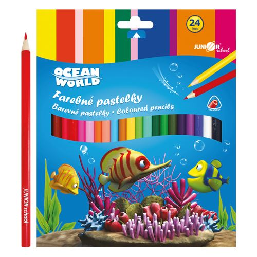 Pastelky Ocean Wolrd trojhrané 24 ks