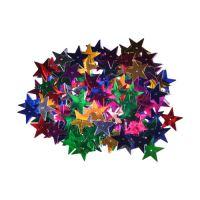 Dekorace hvězdy mix barev 25 mm 14 g
