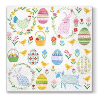 Ubrousky PAW L 33x33cm Easter Everywhere