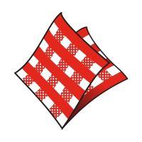 Ubrousky 1-vrstvé 33 x 33 cm karo červené 100 ks
