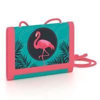 Dětská textilní peněženka Flamingo