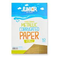 Dekorační papír A4 Metallic zlatý vlnkový 160 g, sada 10 ks